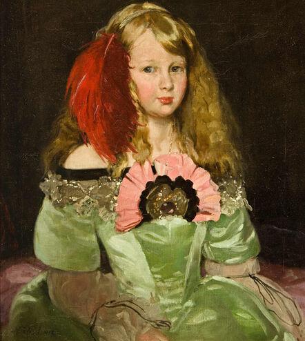 William Nicholson, 'Jennie as Infanta', 1910