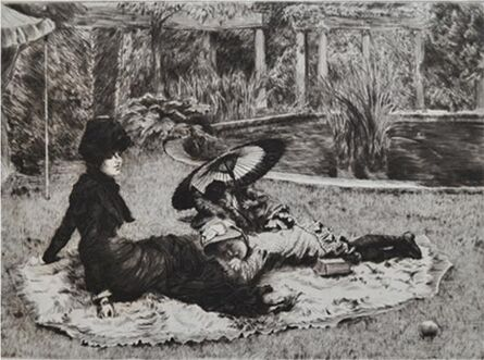 James Jacques-Joseph Tissot, 'Sur l'herbe', 1880