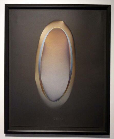 Larry Bell, 'MELBK 12 elliptic vapor drawing', 1983