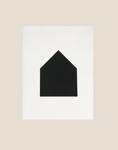 Jürgen Bauer, 'Black House on white', 2020