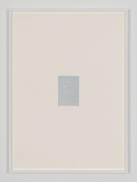 Irma Blank, 'Eigenschriften, Pagina S-16', 1970