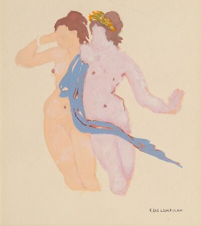 Tamara de Lempicka, 'Deux femmes', 1974