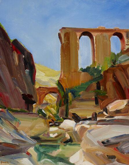 David Bomberg, 'The Broken Aqueduct, Wadi Kelt near Jericho', 1926