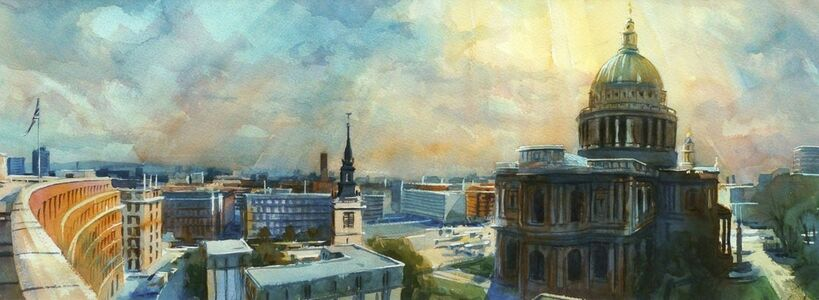 Alexander Creswell, 'London City Skyline 1'