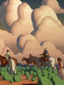 "Logan Maxwell Hagege, '""Walking Through Clouds"" ', 2017"