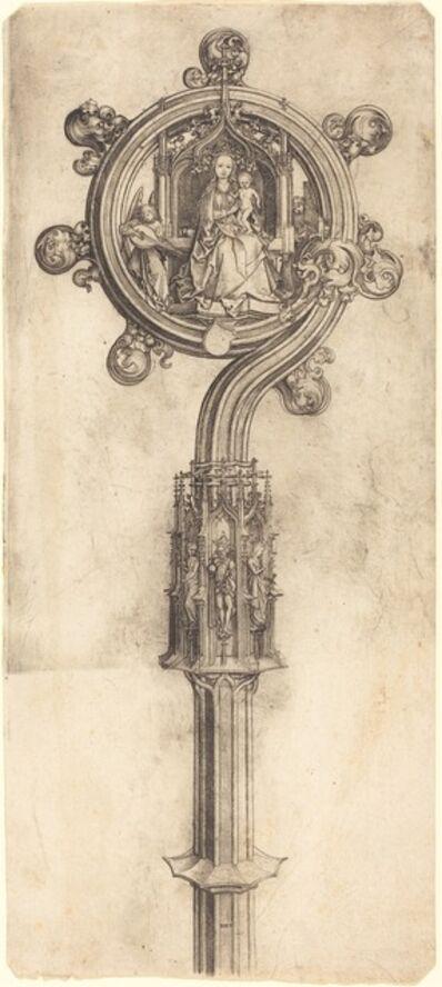 Martin Schongauer, 'A Bishop's Crosier', ca. 1475/1480