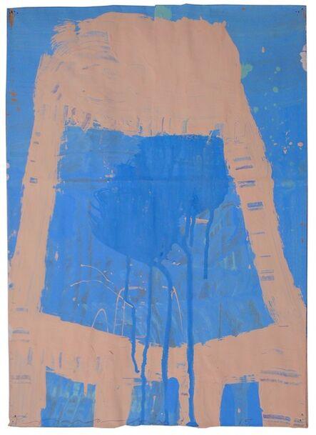 Gary Komarin, 'Small Stacked Cake (Cream on Blue)'