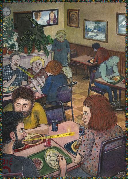 Stipan Tadić, 'Three Croatians at a Polish Restaurant', 2021