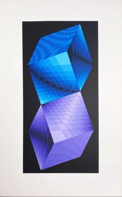 Victor Vasarely, 'Album Meta: Seven Plates 7', 1976
