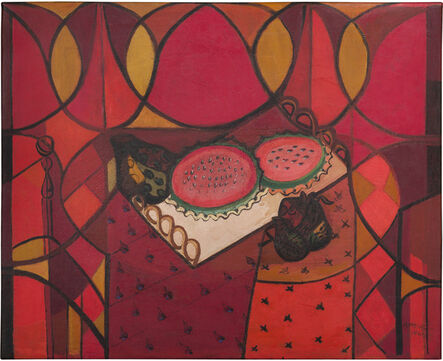 Amelia Peláez, 'Bandeja con frutas (Sandía) (Tray with Fruits [Watermelon])', 1941