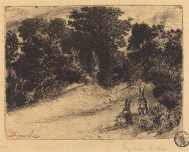 Francis Seymour Haden, 'Combe Bottom', 1860