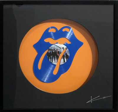 Keith Haynes, 'Stones' Lips - Blue and Orange', N/A