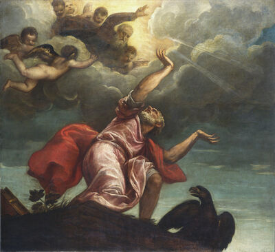 Titian, 'Saint John the Evangelist on Patmos', ca. 1547