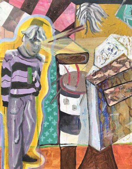 Daniel Borrow, 'Self Portrait, me and what I associate with myself', ca. 2021