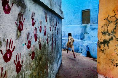 Steve McCurry, 'Boy in mid-flight, Jodhpur, Rajasthan, India', 2007