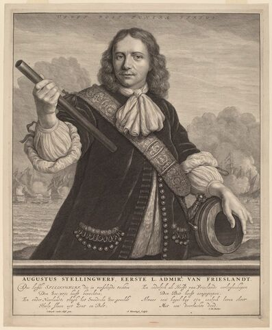 Abraham Blooteling, 'Augustus Stellingwerf, First Lord Admiral of Friesland'