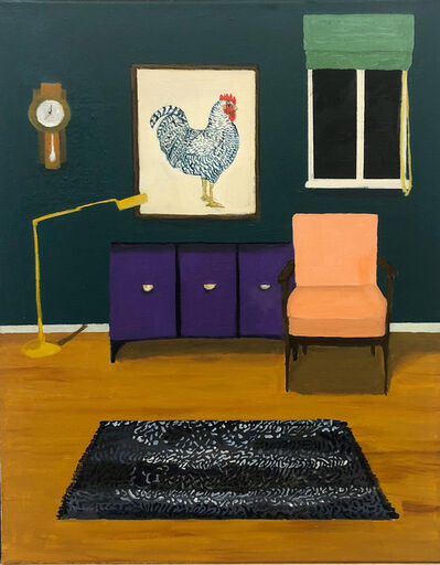 Polly Shindler, 'Room with Rooster Print', 2019