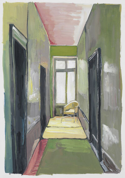 Maira Kalman, 'Corridor with Yellow Chair', 2012
