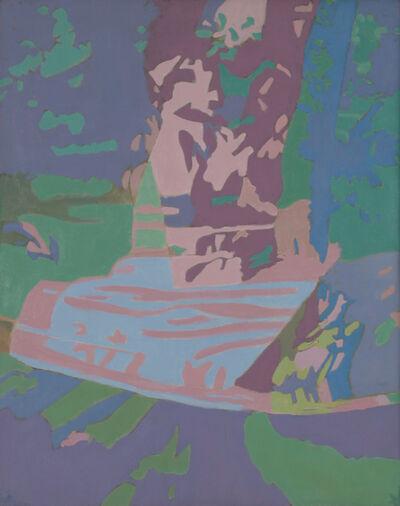 Ralph Wickiser, 'Covered Apple Tree Net Blue', 1990