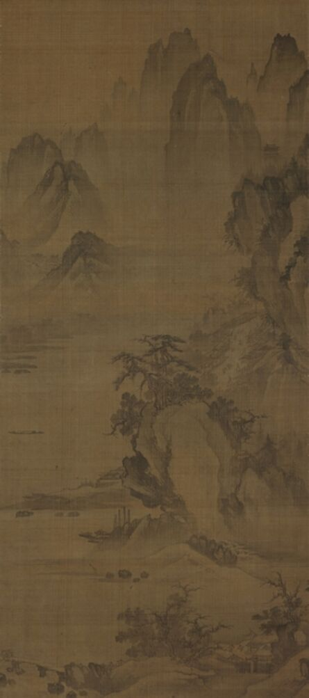 Unknown Artist, 'Cold Breeze in a Mountain Town', Joseon Dynasty-First half of 16th century
