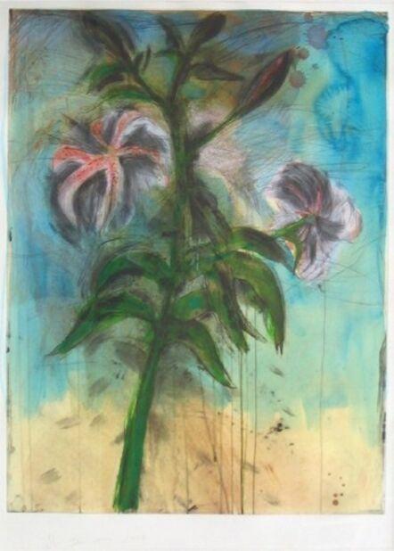 Jim Dine, 'Sky and Lilies', 1998