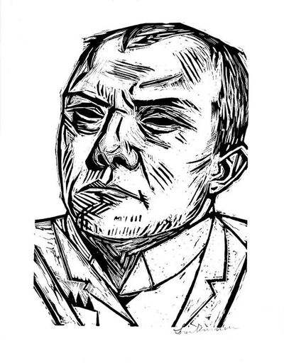 Max Beckmann, 'Self-Portrait', 1922