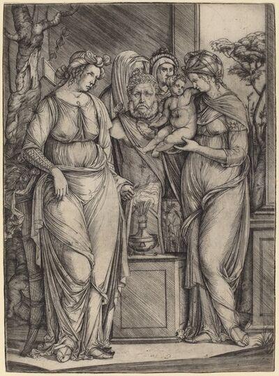 Jacopo de' Barbari, 'Large Sacrifice to Priapus', ca. 1499/1501