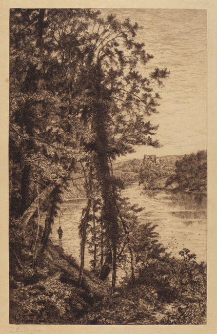 Thomas C. Farrer, 'Untitled (Landscape with Fisherman)', 1885