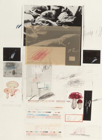 Cy Twombly, 'No. X, from Natural History Part I: Mushrooms', 1974