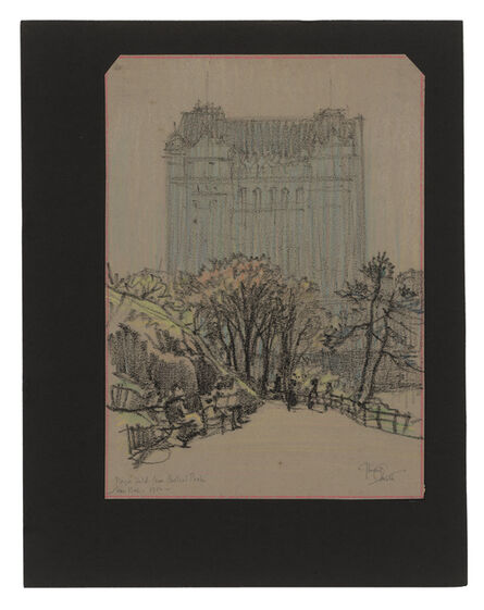 Jules Andre Smith, 'The Plaza Hotel (1907) from Central Park', ca. 1916