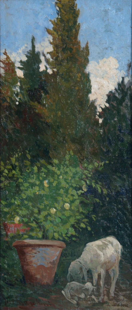Giovanni Marchini, 'In the garden', 1922