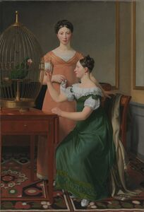 Christoffer Wilhelm Eckersberg, 'Mendel Levin Nathanson's Elder Daughters, Bella and Hanna', 1820