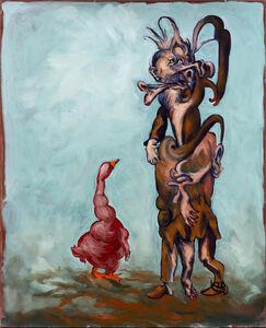 Gérard Garouste, 'Le talmudiste et l'oie grasse', 2020