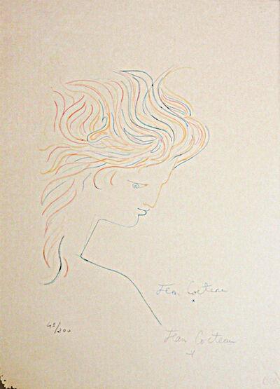 Jean Cocteau, 'Tete en profil', 1960