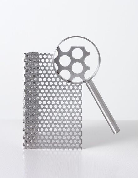 Ricky Swallow, 'Magnifying Glass with Perforated Metal', 2019