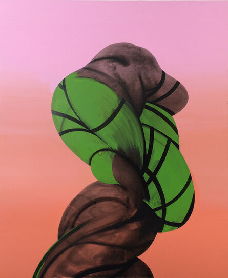 Ian Hughes, 'Twisted Figure (Bound and Green)', 2016