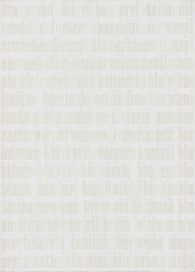 Irma Blank, 'Hyper-Text 6-2-98C', 1998