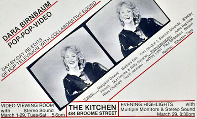 Dara Birnbaum, 'Pop-Pop Video Poster', 1980