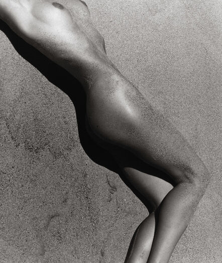 Herb Ritts, 'Carré in Sand', 1988