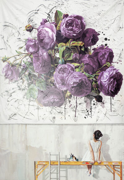 Bae Joon Sung, 'The Costume of Painter - at the studio, purple roses', 2019