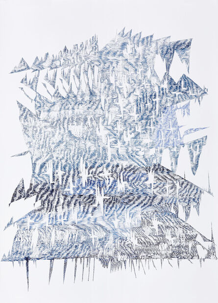 Lyndi Sales, 'Erosion Drawings: Blue Print for an Undesired World 2', 2015