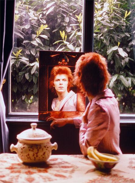 Mick Rock, 'Bowie Mirror Haddon Hall', 1972