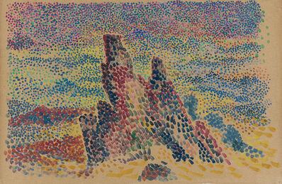 Hippolyte Petitjean, 'Mer agitée sur la côte', ca. 1900