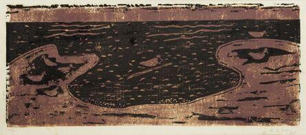 Milton Avery, 'Birds & Sea (brown & black)', 1955