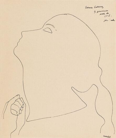 Andy Warhol, 'Portrait of a Dancer (Carmen Gutherrey)', 1954