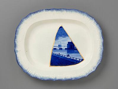 Paul Scott, 'Cumbrian Blue(s), New American Scenery, Castle Garden Battery, New York, after Enoch Wood (triptych)', 2015-2019