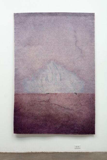 Gary Goldberg, 'Finding the Universe in Oaxaca, blue triangle on purple ground', 2016