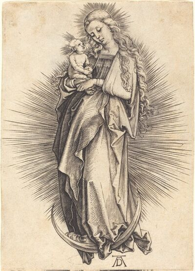 Albrecht Dürer, 'The Virgin on the Crescent', ca. 1498/1499