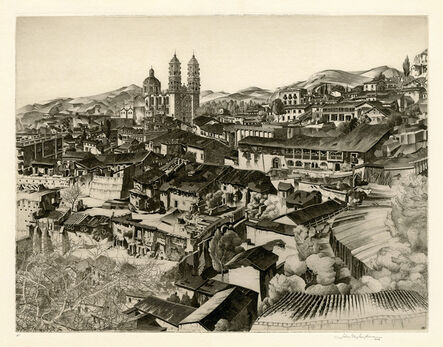 John Taylor Arms, 'Light and Shade, Taxco (Mexican Series #2)', 1946
