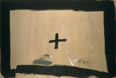 Antoni Tàpies, 'Croix encadrée', 1989